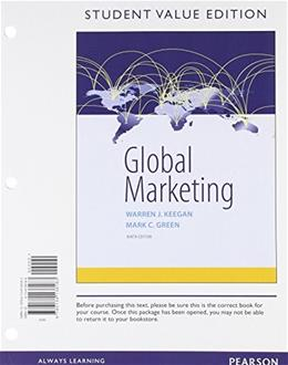 Global Marketing, Student Value Edition (9th Edition) 9780134138183