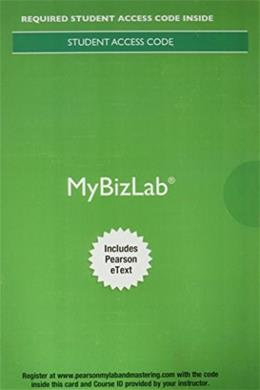 MyBizLab with Pearson eText -- Access Card -- for Business Essentials 11 9780134150031