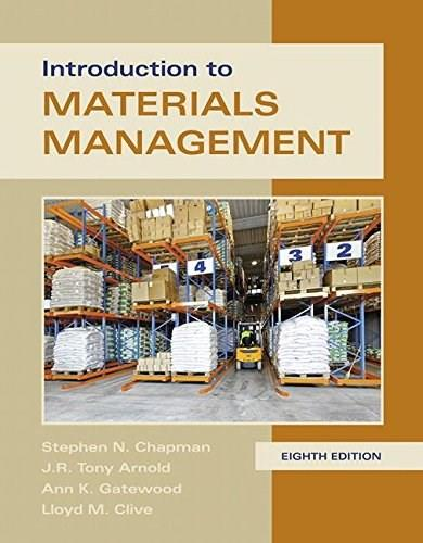 Introduction to Materials Management, by Arnold, 8th Edition 9780134156323