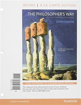 The Philosophers Way: Thinking Critically About Profound Ideas, Books a la Carte Plus REVEL -- Access Card Package (5th Edition) 9780134224893