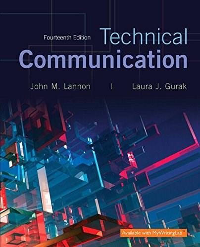 Technical Communication, by Lannon, 14th Edition 14 PKG 9780134271958