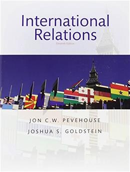 International Relations, by Goldsein,11th Edition 9780134404769