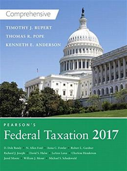 Pearsons Federal Taxation 2017 Comprehensive 30 9780134420646