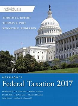 Pearsons Federal Taxation 2017 Individuals 30 9780134420868