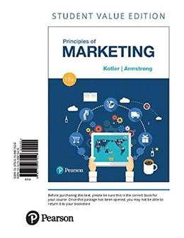 Principles of Marketing, by Kotler, 17th Student Value Edition 9780134461526