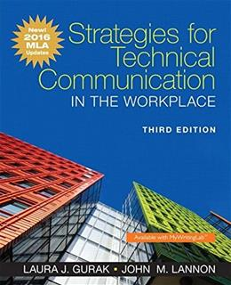 Strategies for Technical Communication in the Workplace, MLA Update Edition (3rd Edition) 9780134586373