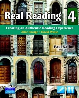 Real Reading 4: Creating an Authentic Reading Experience, by Bonesteel BK w/CD 9780135027714