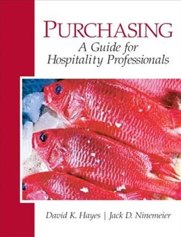 Purchasing: A Guide for Hospitality Professionals, by Hayes 9780135148426