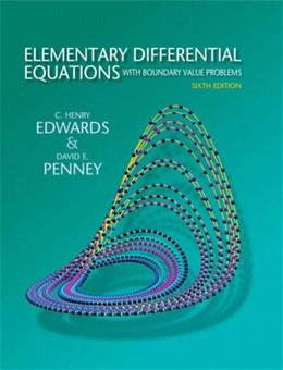 Elementary Differential Equations with Boundary Value Problems (6th Edition) 9780136006138