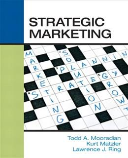 Strategic Marketing, by Mooradian 9780136028048