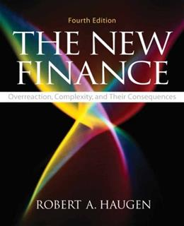 New Finance, by Haugen, 4th Edition 9780136036043