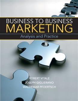 Business to Business Marketing 1st 9780136058281
