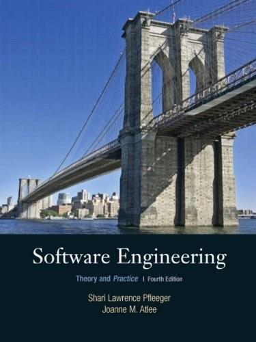 Software Engineering: Theory and Practice, by Pfleeger, 4th Edition 9780136061694