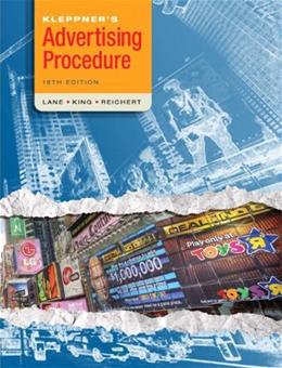 Kleppners Advertising Procedure (18th Edition) 9780136110828