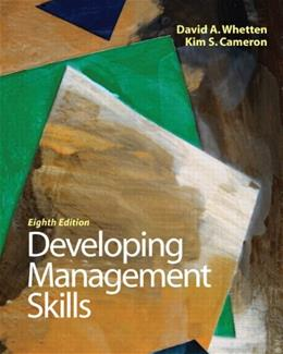 Developing Management Skills (8th Edition) 9780136121008