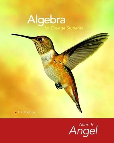 Algebra for College Students, by Angel, 3rd Edition 3 w/CD 9780136129080