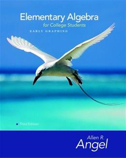Elementary Algebra Early Graphing for College Students, by Angel, 3rd Edition 3 w/CD 9780136134169