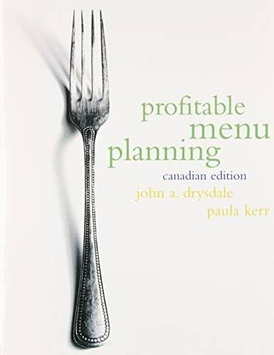 Profitable Menu Planning, by Drysdale, CANADIAN EDITION 9780136750345