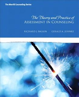 Theory and Practice of Assessment in Counseling, by Balkin 9780137017515