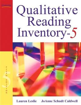 Qualitative Reading Inventory, by Leslie, 5th Edition 5 w/DVD 9780137019236