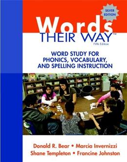 Words Their Way: Word Study for Phonics, Vocabulary, and Spelling Instruction (5th Edition) (Words Their Way Series) 5 PKG 9780137035106