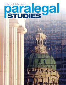 Paralegal Studies, by Michaud 9780137052684