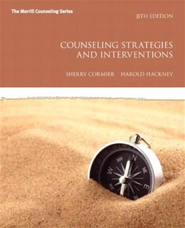 Counseling Strategies and Interventions (8th Edition) (Interventions that Work Series) 9780137070183
