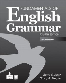 Fundamentals of English Grammar with Audio CDs and Answer Key (4th Edition) 4 w/CD 9780137071692