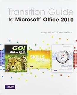 Transition Guide to Microsoft Office 2010, by Prentice Hall, CD-ROM ONLY 9780137080168