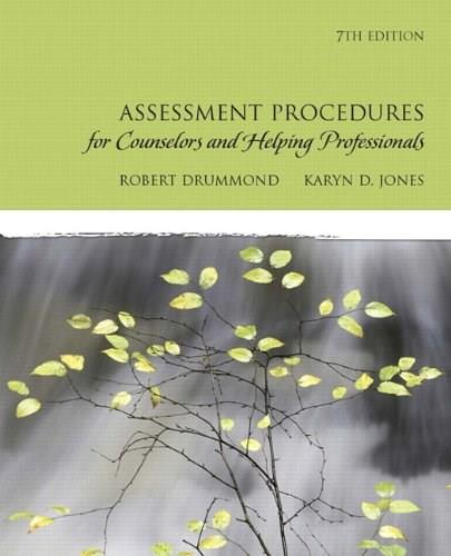 Assessment Procedures for Counselors and Helping Professionals 7 PKG 9780137152520