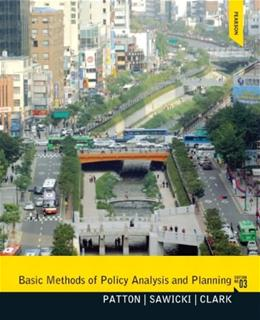 Basic Methods of Policy Analysis and Planning 3 9780137495092