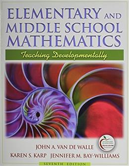 Middle School Mathematics with Manipulative Blocks, by Van de Walle, 7th Edition 7 PKG 9780138011529