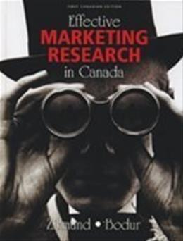 Effective Marketing Research in Canada, by Zikmund, CANADIAN EDITION PKG 9780176252083