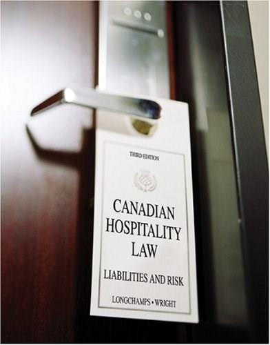 Canadian Hospitality Law: Liabilities and Risk, by Longchamps 3 PKG 9780176407216