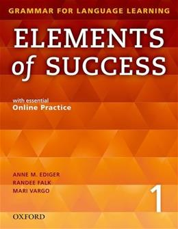 Elements of Success 1, by Ediger, Worktext PKG 9780194028202