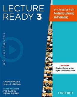 Lecture Ready 3, by Oxford University Press, 2nd Edition, Worktext 2 PKG 9780194417297