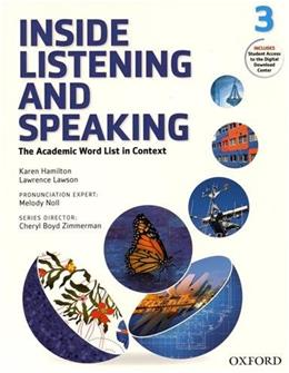 Inside Listening and Speaking Level 3 Student Book Pap/Psc St 9780194719339