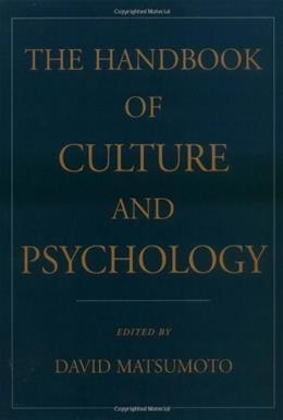 Handbook of Culture and Psychology, by Matsumoto 9780195131819