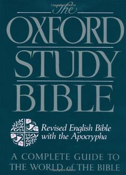 Oxford Study Bible: Revised English Bible with the Apocrypha, by Suggs 9780195290004