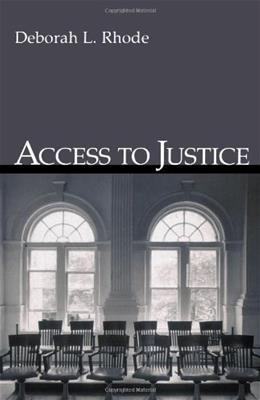 Access to Justice 9780195306484