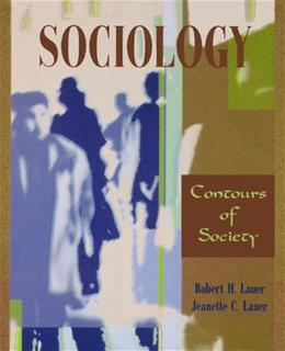Sociology: Contours of Society, by Lauer 9780195329780