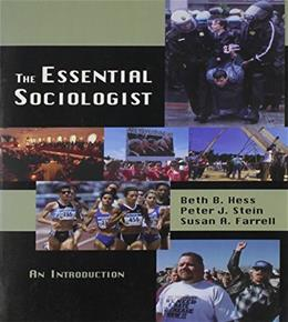 Essential Sociologist: An Introduction, by Hess 9780195329995