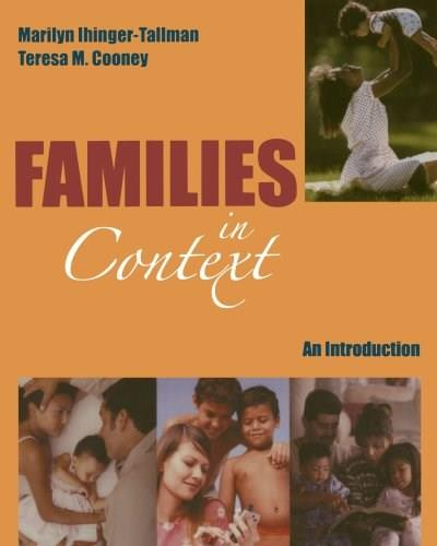 Families in Context: An Introduction, by Ihinger-Tallman 9780195330250