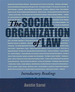 Social Organization of Law: Introductory Readings, by Sarat 9780195330342