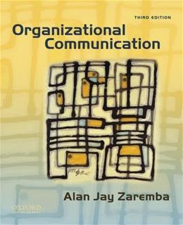 Organizational Communication 3 9780195379044