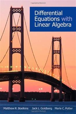 Differential Equations with Linear Algebra, by Boelkins 9780195385861