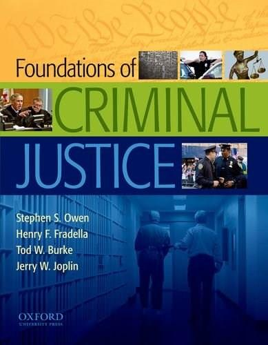 Foundations of Criminal Justice, by Owen 9780195387322