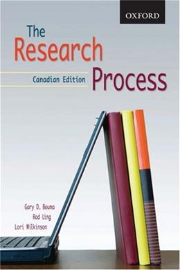 Research Process, by Wilkinson, CANADIAN Edition 9780195426151