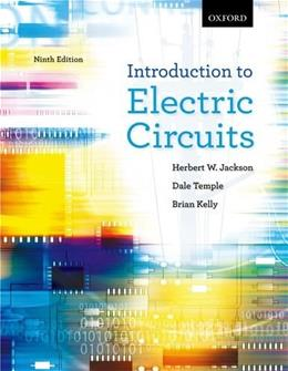 Introduction to Electric Circuits, by Jackson, 9th Edition 9 w/CD 9780195438130
