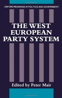 West European Party System, by Mair 9780198275831